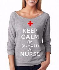 Nursing Student Gift Keep Calm I'm Almost A Nurse French Terry Future Nurse Top