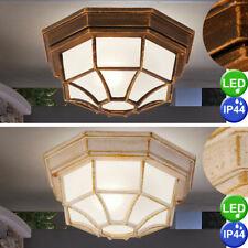 Aluminio Led Exterior Lámpara de la Cubierta Oro Patinada Luz Jardón Lejos