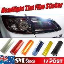 Car Headlight Tint Film Wraps Tail Fog Light Sticker Auto Smoked Overlay Decals