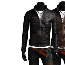 Giacca Giubbotto in Pelle Uomo Men Leather Jacket Veste Blouson Homme Cuir N16c