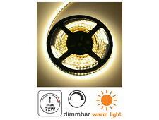 (4,98 EUR/m) LED Strip 5m dimmbar - 72W 3000K - 300x 5050 Lichtband warmweiß