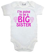 """Big Sister Combinaison """" I'm Vais être """" grenouillère fille gilet cadeau"""