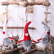 Christmas Santa Gnome Doll Ornaments Window Hanging Tree Holiday Party Decor