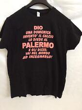 """T-SHIRT SPIRITOSA  """" CALCIO PALERMO"""" NERA TAGLIA S MAGLIA MAGLIETTA"""