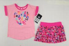 Adidas baby Girls skort set, 2-Piece Top & Skort Set szs 3,9,18,24 mos
