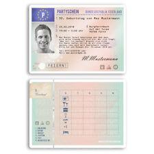 Einladungen zum Geburtstag als Führerschein Karte Lizenz Auto Einladungskarten