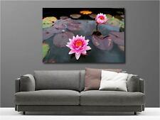 Tableaux toiles déco en kit Fleur de Lotus réf 23036554