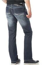 Bruno Banani Jeans Rayen Straight Fit Herren Denim Hose Dark Blue Used W28-W34