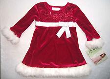 Festtagskleid rot NEU ! Gr. 92-110 Schleife Kleid Weihnachtskleid Blumenmädchen