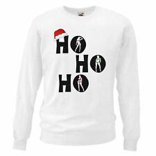 Unisex White Santa HOHOHO Sweatshirt Adults Christmas Jumper Day Gift Idea