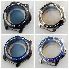 44mm ceramic bezel Watch Case fit ETA 2836 Miyota 8215 8205 DG2813 MOVEMENT