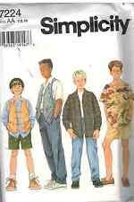 7224 UNCUT Simplicity SEWING Pattern Boys Button Front Shirt Vest Pants Shorts