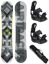 Snowboard Set AIRTRACKS Board Cubo+Bindung Star oder Master+Sb Bag/165 168 171cm