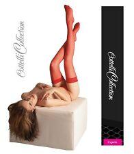 Calze Autoreggenti rosse con pizzo Cottelli Sexy shop toys intimo donna femminil