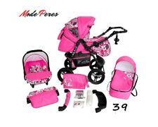 Modern Baby Pram Pushchair Stroller Buggy CAR SEAT SWIVEL WHEELS Travel System