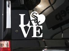 "I Love Chicago White Sox !  Vinyl Car Decal Sticker 5.5""(w) w/ White Sox Logo"