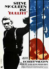 """""""BULLITT"""".2.Steve McQueen Robert Vaughan Classic 1968 Movie Poster A1A2A3A4Sizes"""