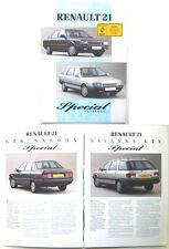 RENAULT 21 gts et gtx éditions spéciales 1989 brochure UK