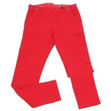 9879V pantalone bimba Stella McCartney Kids red denim cotton trouser kid