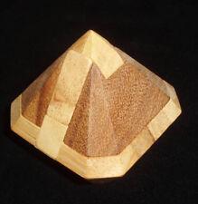 Diamonds Forever wood brain teaser puzzle 12 pc burr