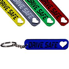 """/""""S/"""" Herz-Schlüsselanhänger /""""Drive safe/"""" handmade Führerschein Autokauf Geschenk"""