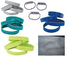 Cancer Awareness Rubber Bracelet Choose Color (Blue White Teal Lime Green Gray)