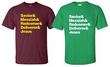 """Starting 5"" T-Shirt christian jesus christ is lord savior redeemer bible church"