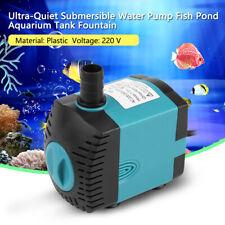 Ultra-Quiet Tauchwasserpumpe Schmutzwasserpumpe Aquarium Brunnen 220V Blau
