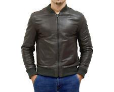 the best attitude 56050 5aa60 Cappotti e giacche da uomo grigio in pelle con cerniera ...