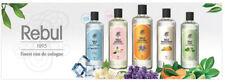 Rebul 270 ml Turkish-Premium-Eau-De-Cologne Types 270ml / 9 oz in a glass bottle