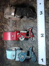 CINTURA PELLE 4 CM FIBBIA AUTO CAR VESPA  artigianale vintage BELT BUCKLE ME5