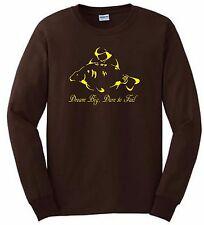 CARP FISHING CLOTHING. LONG-SLEEVE T-SHIRT, DREAM BIG!  (COLOUR  BROWN.)
