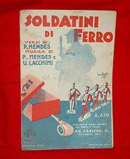 Spartito Musicale Mandolino Carisch 1928 Soldatini di Ferro - Bonfanti illustr.
