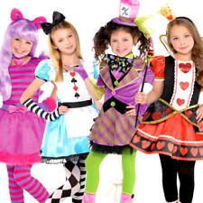 Wonderland Girls Fancy Dress Fairytale Book Day Week Childrens Kids Costumes New