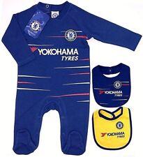 CHELSEA FC 2019 BABIES PRAM SLEEP SUIT BABY GROW BODY ROMPER 0-18 MONTH CFC