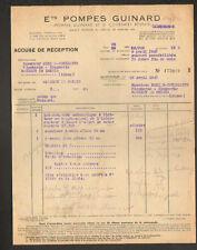 """SAINT-CLOUD (92) USINE de POMPES """"Ets. GUINARD"""" en 1947"""