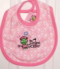 Baby Golf-Theme Bibs.  Pink, Green or Navy