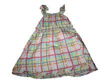 New Toddler Girl Deux Par Deux Plaid Summer Dress Size 2T
