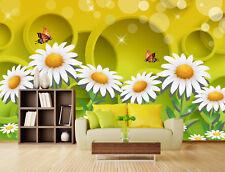 3D Flowers, butterflies 2266 Wall Paper Print Wall Decal Deco Indoor Wall Murals