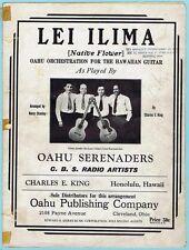 LEI ILIMA NATIVE FLOWER - HAWAIIAN GUITAR w/ OAHU SERENADERS (1934)