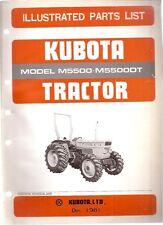 Kubota M5500 & M5500DT Tractor Illustrated Parts List