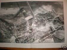 Bovino Vapor atrapada en una tormenta de impresión de mar Gale 1897