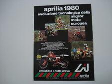 advertising Pubblicità 1980 MOTO APRILIA MX 125 A