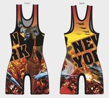 New York Wrestling singlets - Red