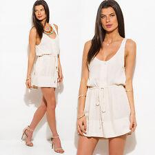 Catch Me Women's Sleeveless Cinched Waist Blouson Dress - S,M,L