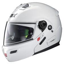 GREX G9.1 EVOLVE KINETIC METAL WHITE FLIP FRONT MOTORCYCLE MOTORBIKE HELMET