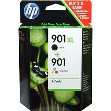 PACK 2 CARTOUCHE s HP NOIRE 901 XL + COULEUR / SD519ae = cc654ae + cc656ae noir
