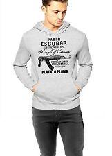 Pablo Escobar Hoodie Medellin Cartel King Of Cocaine Plata O Plomo Gray Pullover