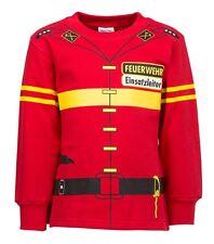 Kinder Uniform Kostüm Sweatshirt* Feuerwehr rot  92/98 -  110/116 -  128/134