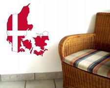 Dänemark Wandtattoo Nationalfarben Flagge Fahne  6 Größen